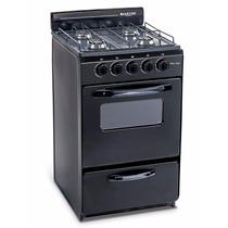 Cocina Martiri New Lujo Black 4 Hornallas,51 Cm.12ctas S/int