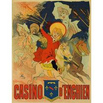 Cavalos Pôneis Mulher Crianças Corrida Casino Poster Repro