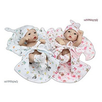 Juguete Sanydoll 2pc Realista New Baby Alive Gemelos Lavabl
