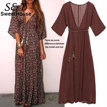 Vestido Maxidress Estilo Bohemio Hippie Moda Japonesa