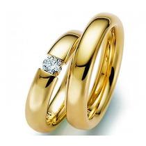 Par De Alianças Apaixonados Em Ouro 18k Mais Diamantes