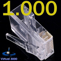 Kit Pacote 1000 Conector Rj45 Cabo Rede Lan Plug Ethernet