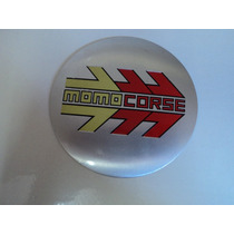 Emblema Momo Corse 117 Mm Para Rodas Esportivas
