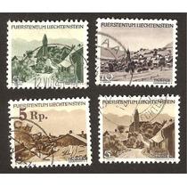 Estampillas Usadas De Liechtenstein Turismo