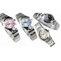 Reloj Casio Para Mujer Ltp 1241 Elegante Pulso En Acero!!