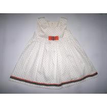 Vestido Paulett´s Para Niñas, Color Crema, Talla 12 Meses.