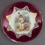 Prato Pq Bolo Porcelana Bavária Dama Antiga E Cupidos