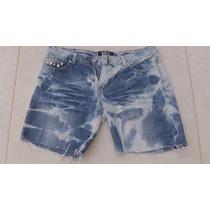 Shorts Jeans Tie Dye Com Spikes, Marcia Mello 38