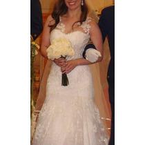 Vestido Novia Precioso Strapless Con Bolero Tul Talla 36