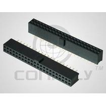 Conector Barra D Pino Femea 40vias 180º Pci Arduino - 10pçs