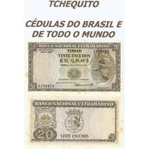 Timor 20 Escudos 1967 P. 26 Fe Cédula C/manchas - Tchequito