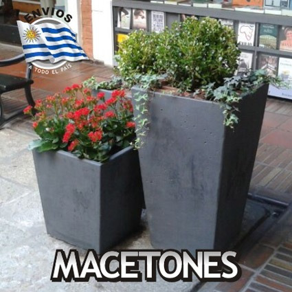 Macetas taca piramidales de hormigon para jardin e - Maceteros de interior ...