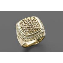 Anel Masculino Em Ouro 18 Quilate E Diamantes