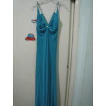 Vestido Turquesa De Noche Talla S