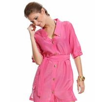 Vestido Camisa Pink Mar Rio
