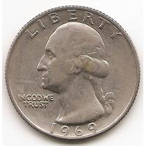 Moneda Estados Unidos 25 Cent.dolar Año1969 Buen Valor #2