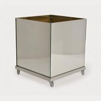 Vaso De Vidro Quadrado Espelho 35x35cm Imperdivel
