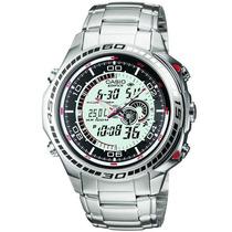 Relógio Casio Edifice Efa-121 50 Cidades Termômetro Alarme B
