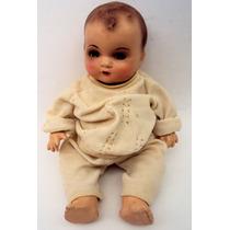 Boneca Bebê Bebezão Antiga Abre E Fecha Os Olhos