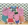 Kit Displays De Chão Familia Peppa Pig 4 Peças