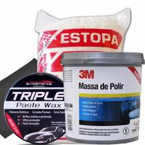 Polimento Automotivo Cera Cristalizadora + Massa De Polir