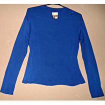 Blusa Viscolycra Azul Royal - Tam M-g = 105 Cm Busto