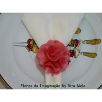 Porta Guardanapo Flor Tecido Casamento Festas Noivas