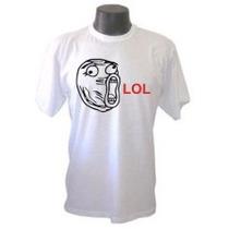 Camiseta Memes Lol Divertida Panico Engraçada Sátiras