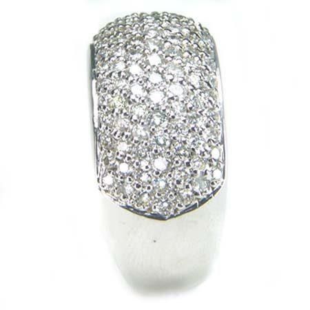7f948a74abfed Anel Em Ouro Branco 18k Com Diamantes Ótimo Preço Aproveite - R  2.967