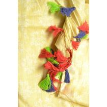 Pañuelo De Algodón Hindú Con Flecos Colores Chal Pashmina