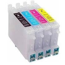 Cartucho Recarregável Impressora T23 Tx105 Tx115 Chip Full