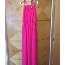 Vestido Longo Rosa Pink Novo