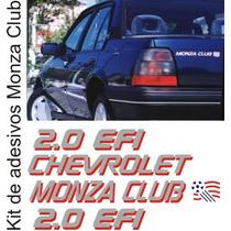 Kit De Adesivos Gm Chevrolet Monza Club 2.0 Efi