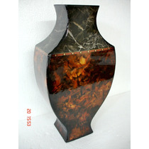 Antigo Vaso Oriental Em Madeira Laqueada Século Xx Raridade