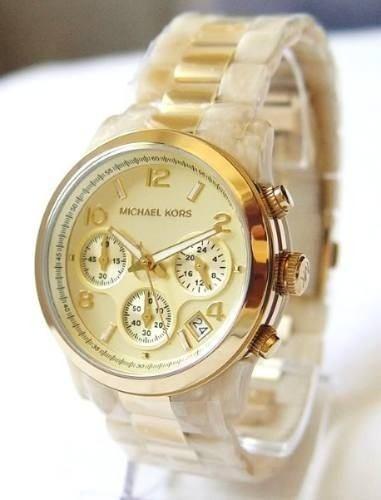 c9cfe84f19e Relógio Michael Kors Mk5139 Madrepérola Dourado 39mm Caixa - R  443 ...