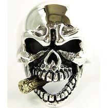 Anillo Esqueleto Calavera Templarios Dragones Celta Harley