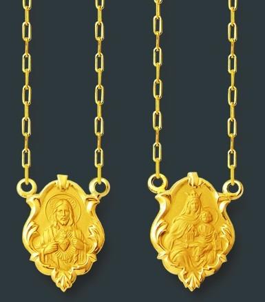 Leão Jóias Escapulario Em Ouro 2,4 Gr 18k Imagens Perfeitas - R  649,00 em  Mercado Livre 2aa0e2652d
