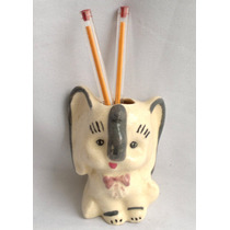 Lapicero De Cerámica Elefante Retro Vintage