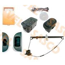 Kit Vidro Eletrico Logus 2 Portas + Trava Universal 2p