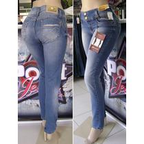 Calça Jeans Levanta E Modela Bumbum C/ Bojo E Strass Sawary
