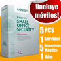 Licencia Kaspersky Small Office 5pc 5moviles 1 Servidor 1año