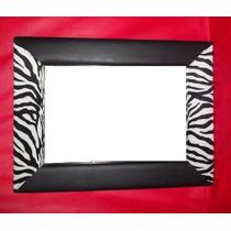 Espejo Decorativos Rectang C/marco Cuero Liso/estamp Fc Ayb