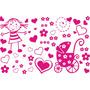 Adesivo De Parede Infantil Bebê Criança Quarto Decoração