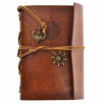 Caderno Vintage Agenda Diário Porta Bloco Anotações Couro