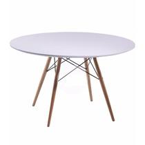 Mesa Comedor De Diseñador Charles Eames, 1.20 Diametro