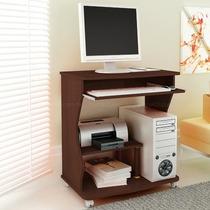 Mesa Para Computador Cor Tabaco