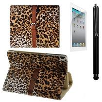 Funda Ipad Mini 1 Leopardo Piel Mica + Stylus Lfb