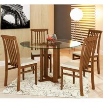 Conjunto Base+ 4 Cadeiras Lotus