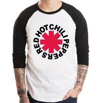 Camiseta Red Hot Chili Peppers Raglan 3/4 Pronta Entrega