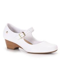 Sapato Boneca Salto Conforto Feminino Usaflex - Branco